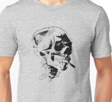 Skull Smoking A Cigarette  Unisex T-Shirt