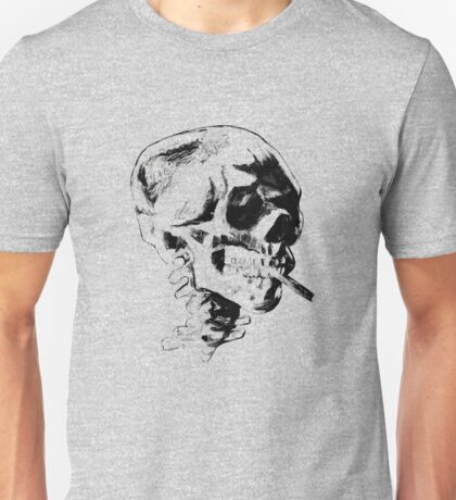 Skull Smoking A Cigarette  Unisex T-Shirt