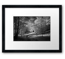 Infrared creek Framed Print