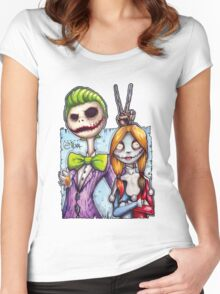 Nightmare In Gotham Women's Fitted Scoop T-Shirt