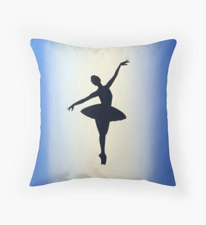 dance ballerina art print artwork ballet sport girl pretty cute Throw Pillow