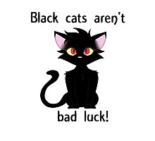 Black Cats aren't bad luck Photographic Print