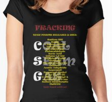 Fracking Tee, save the environment from coal seam gas Women's Fitted Scoop T-Shirt