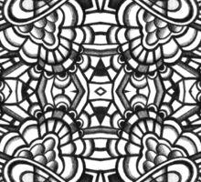 SYMMETRY - Design 007 (B/W) Sticker