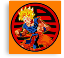 Super saiyan son goku Canvas Print