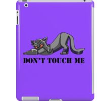 Don't Touch Mega-Kitty iPad Case/Skin