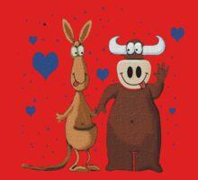 Kangaroo & Bull love One Piece - Short Sleeve