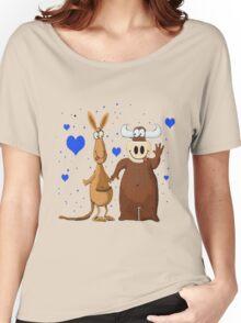 Kangaroo & Bull love Women's Relaxed Fit T-Shirt