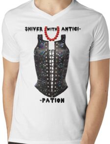Shiver with Anticip- Mens V-Neck T-Shirt