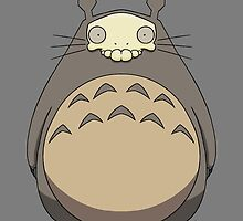 Skulled Totoro by crabro