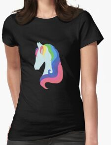 Rainbow Pony Womens Fitted T-Shirt