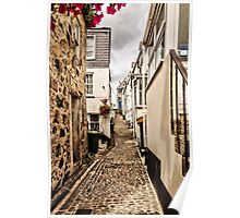 Narrow Cornish street Poster