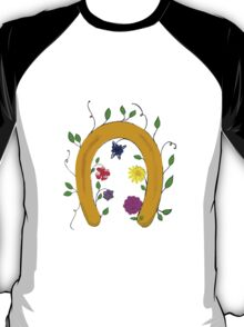 Lucky blooming horseshoe  T-Shirt