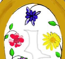 Lucky blooming horseshoe  Sticker