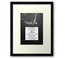 The Tower of Terror- Fast Pass Framed Print