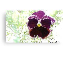 A Glitch in the Flower Matrix Canvas Print