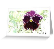 A Glitch in the Flower Matrix Greeting Card