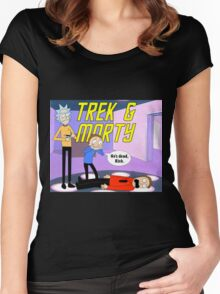 Trek & Morty Women's Fitted Scoop T-Shirt