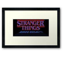 Stranger Things - The Upside Down Framed Print
