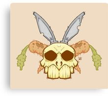Old Rabbit Skull Canvas Print
