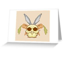 Old Rabbit Skull Greeting Card