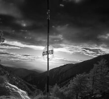Mt Baldy Closed Sign by Michael Wicks
