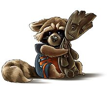 Rocket and Groot by aktheneroth