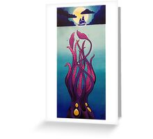 Troubled Waters by Moonlight Greeting Card