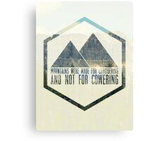 MOUNTAINS Canvas Print
