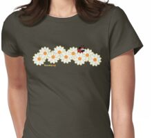 Lady Pug! (green accents) Womens Fitted T-Shirt