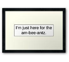am-bee-antz Framed Print