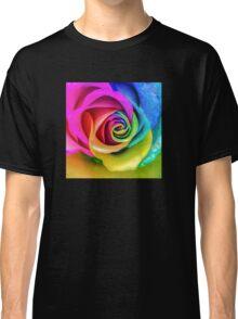 Beatiful Colorful Rainbow Rose Classic T-Shirt