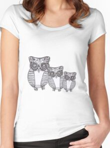 Owl Be Seeing You!  Women's Fitted Scoop T-Shirt