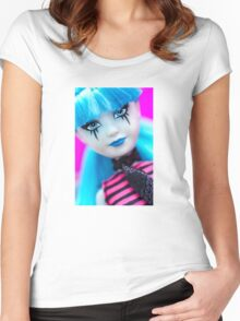 Punk Gothic Doll Women's Fitted Scoop T-Shirt