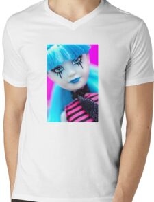 Punk Gothic Doll Mens V-Neck T-Shirt