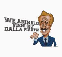We Animale! Vieni giù dalla pianta! (scritta nera)  One Piece - Short Sleeve