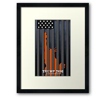 TRUMP - LAW AND ORDER CANDIDATE Framed Print