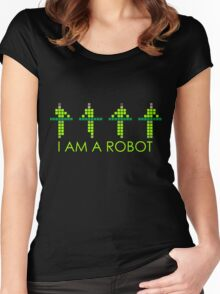 PIXEL8 | Power Station NEON | I AM A ROBOT Women's Fitted Scoop T-Shirt