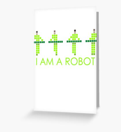 PIXEL8 | Power Station NEON | I AM A ROBOT Greeting Card