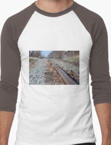 Tracks to the Future Men's Baseball ¾ T-Shirt