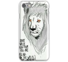 "Aslan ""You Doubt Your Value"" Digital Art iPhone Case/Skin"