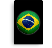 Brazil - Brazilian Flag - Football or Soccer 2 Canvas Print