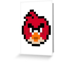 Pixel Red Greeting Card