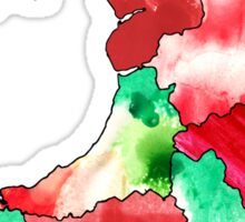 Watercolor Countries - Wales Sticker