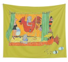 A Playlet on Chicken Ranching Wall Tapestry