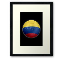 Columbia - Columbian Flag - Football or Soccer 2 Framed Print