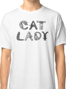 Cat Lady - Cat Letters - Grey Classic T-Shirt