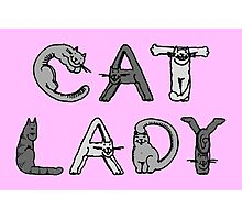 Cat Lady - Cat Letters - Grey Photographic Print