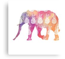 Elephant: Rainbow Pineapple Canvas Print