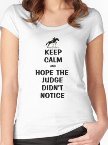 Keep Calm & Hope The Judge Didn't Notice T-Shirt Women's Fitted Scoop T-Shirt